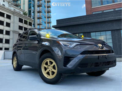 2017 Toyota RAV4 - 17x8 35mm - Black Rhino Rumble - Stock Suspension - 245/65R17