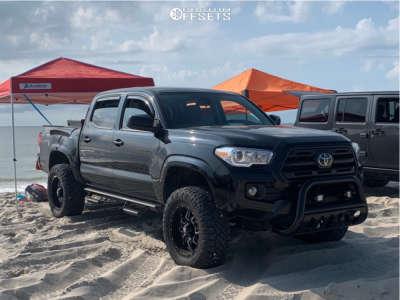 "2019 Toyota Tacoma - 18x9 -12mm - Havok H109 - Suspension Lift 3"" - 33"" x 12.5"""