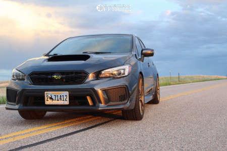 2018 Subaru WRX STI - 19x8.5 40mm - XXR 559 - Stock Suspension - 255/40R19