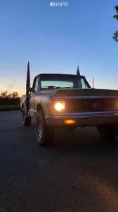 1972 Chevrolet K20 Pickup - 16x7 -8mm - Alloy Ion style 71 - Stock Suspension - 305/70R16