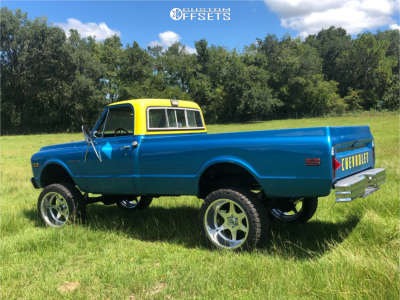 """1971 Chevrolet K10 Pickup - 22x12 -44mm - Specialty Forged Sf010 - Suspension Lift 6"""" - 33"""" x 12.5"""""""