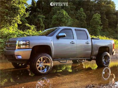 "2007 Chevrolet Silverado 1500 HD - 22x14 -76mm - Moto Metal 962 - Suspension Lift 7.5"" - 35"" x 12.5"""