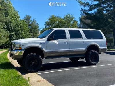 "2002 Ford Excursion - 18x9 -12mm - Fuel Zephyr - Suspension Lift 6"" - 35"" x 12.5"""