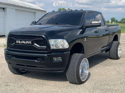 2017 Ram 2500 - 22x14 -76mm - Fuel Forged Ff30 - Leveling Kit - 305/40R22