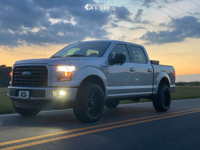"2017 Ford F-150 - 20x10 -24mm - Fuel Maverick - Suspension Lift 3.5"" - 33"" x 11.5"""