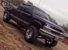 "1998 Chevrolet K1500 - 20x12 -44mm - Moto Metal MO962 - Body Lift 3"" - 35"" x 12.5"""