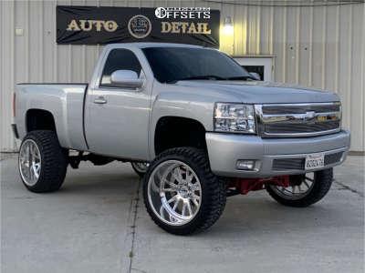 "2010 Chevrolet Silverado 1500 - 24x14 -76mm - Moto Metal Mo401 - Suspension Lift 8.5"" - 35"" x 13.5"""