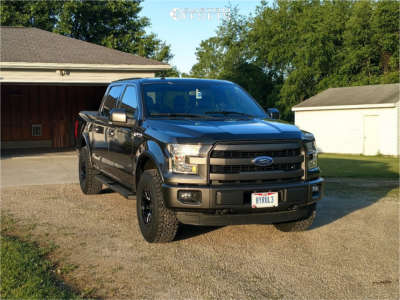 2015 Ford F-150 - 17x9 18mm - RTR Tech 6 - Leveling Kit - 285/75R17