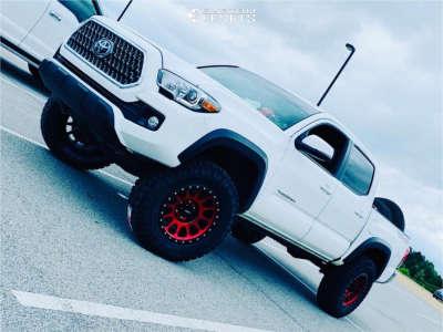 "2019 Toyota Tacoma - 18x9 -12mm - Method Mr305 - Suspension Lift 3"" - 275/70R18"