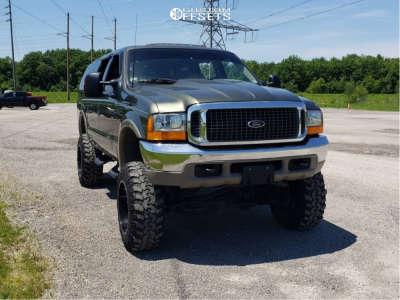 "2000 Ford Excursion - 20x12 -44mm - Moto Metal Mo962 - Suspension Lift 7"" - 35"" x 12.5"""