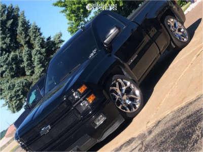 2014 Chevrolet Silverado 1500 - 22x9 24mm - Oe Performance 176 - Lowered 5F / 7R - 285/35R22
