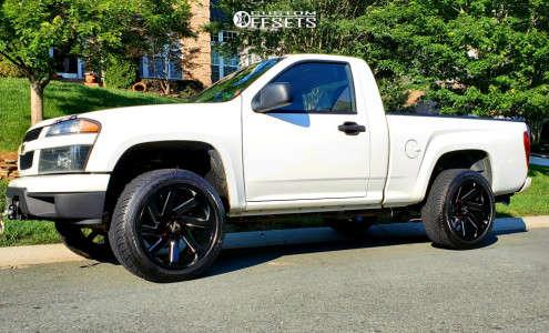"2012 Chevrolet Colorado - 20x10 -25mm - ARKON OFF-ROAD Lincoln - Suspension Lift 5"" - 275/45R20"