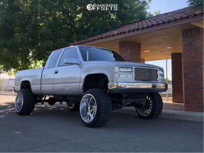"1995 Chevrolet K1500 - 22x14 -73mm - American Force Burnout Ss - Suspension Lift 6"" - 33"" x 12.5"""