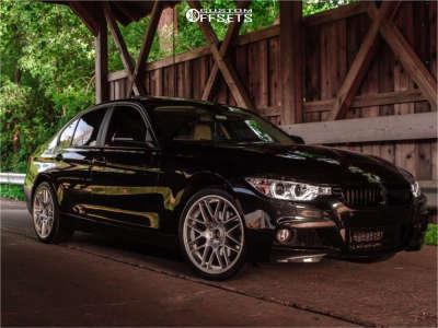 2014 BMW 328i xDrive - 19x8.5 40mm - VMR V703 - Stock Suspension - 245/35R19
