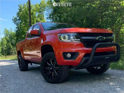 """2016 Chevrolet Colorado - 20x10 -24mm - Fuel Maverick D610 - Suspension Lift 3.5"""" - 275/55R20"""