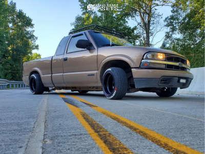 """2002 Chevrolet S10 - 15x10 -89mm - Bart Super Trucker - Lowered 4F / 6R - 25"""" x 8.5"""""""