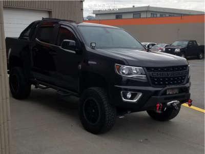 """2016 Chevrolet Colorado - 18x9 1mm - Fuel Anza - Suspension Lift 6"""" - 275/70R18"""