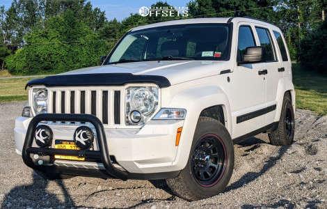 2011 Jeep Liberty - 16x8.5 -12mm - Cragar Soft 8 - Stock Suspension - 225/75R16