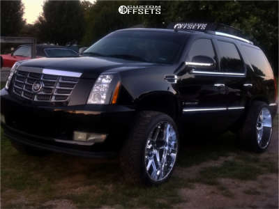 2008 Cadillac Escalade - 24x12 -57mm - Vision Sliver - Lowered on Springs - 305/50R24