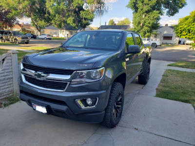 "2017 Chevrolet Colorado - 18x9 18mm - Moto Metal Razor - Suspension Lift 3.5"" - 275/65R18"