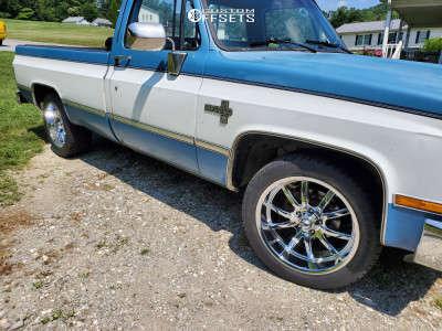 1986 Chevrolet C10 - 20x9 -12mm - Ridler Style 650 - Stock Suspension - 275/45R20