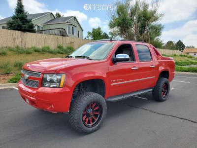 "2010 Chevrolet Avalanche - 20x10 -18mm - Fuel Hardline - Suspension Lift 6"" - 33"" x 12.5"""