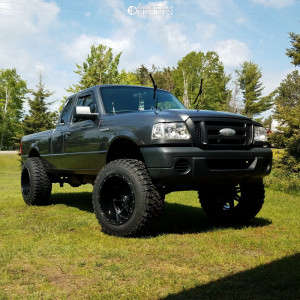 """2008 Ford Ranger - 20x14 -76mm - Fuel Hostage D531 - Suspension Lift 7"""" & Body 3"""" - 35"""" x 13.5"""""""