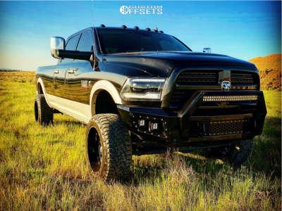 "2017 Ram 3500 - 22x12 -44mm - TIS 544bm - Suspension Lift 4.5"" - 35"" x 12.5"""