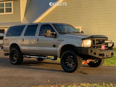 """2005 Ford Excursion - 20x12 -44mm - Raceline Shift - Suspension Lift 4.5"""" - 35"""" x 12.5"""""""