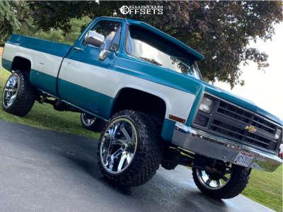 "1986 Chevrolet K10 Pickup - 22x12 -51mm - ARKON OFF-ROAD Lincoln - Suspension Lift 2.5"" - 33"" x 12.5"""