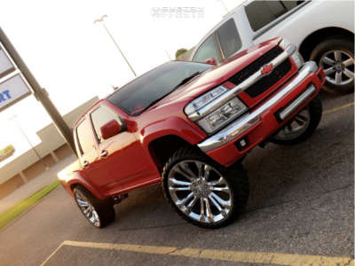 "2012 Chevrolet Colorado - 24x9 32mm - Replica Wheels Split 7s - Suspension Lift 3.5"" - 33"" x 12.5"""