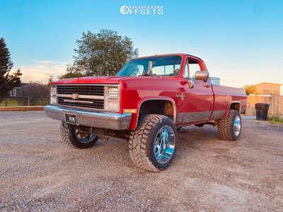 """1983 Chevrolet K10 - 20x14 -76mm - Full Throttle Ft-1 - Suspension Lift 4"""" - 33"""" x 14.5"""""""
