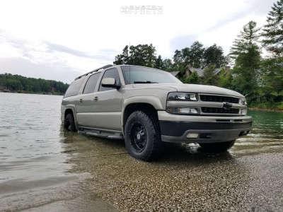 2001 Chevrolet Suburban 1500 - 17x9 -12mm - Anthem Off-Road Defender - Stock Suspension - 285/70R17