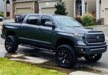 """2018 Toyota Tundra - 22x10 -18mm - Fuel Assault - Suspension Lift 5"""" - 35"""" x 12.5"""""""