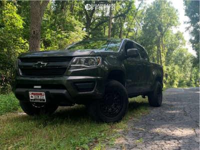 "2018 Chevrolet Colorado - 18x9.5 -12mm - Black Rhino Dalton - Suspension Lift 3"" - 305/50R18"