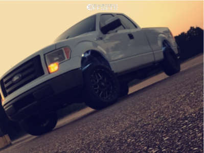"""2010 Ford F-150 - 20x10 -24mm - XD Grenade - Leveling Kit - 32"""" x 75"""""""