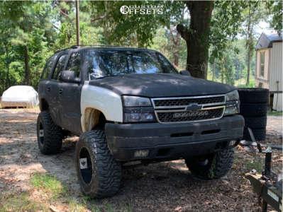 "2001 Chevrolet Tahoe - 20x12 -44mm - Ballistic Rage - Suspension Lift 6"" & Body 3"" - 37"" x 13.5"""