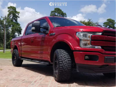 """2019 Ford F-150 - 20x10 -24mm - Hartes Metal Offroad Strike - Stock Suspension - 33"""" x 12.5"""""""