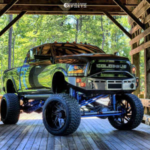 """2017 Ram 2500 - 28x16 -101mm - Rbp Forged Zion - Lifted >12"""" - 42"""" x 15.5"""""""