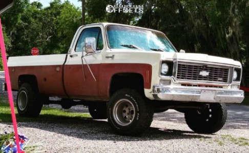 "1978 Chevrolet C10 - 15x12 -71.755mm - Mickey Thompson Classic - Suspension Lift 4.5"" - 33"" x 10.5"""