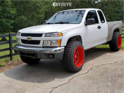 """2006 Chevrolet Colorado - 20x12 -44mm - XF Forged Xfx-301 - Suspension Lift 2.5"""" - 33"""" x 11.5"""""""