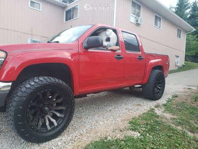 2008 Chevrolet Colorado - 20x10 -18mm - Fuel Blitz - Stock Suspension - 305/55R20