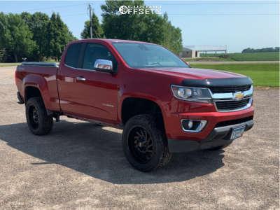 "2015 Chevrolet Colorado - 20x9 0mm - Hardrock Crusher H704 - Suspension Lift 4"" - 32"" x 10.5"""