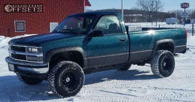 "1996 Chevrolet K1500 - 15x10 -44mm - Pro Comp Series 51 - Leveling Kit & Body Lift - 33"" x 12.5"""
