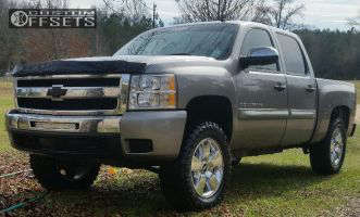 """2009 Chevrolet Silverado 1500 - 20x8.5 31mm - Spaced out Stockers Spaced out stockers - Suspension Lift 4"""" - 35"""" x 12.5"""""""