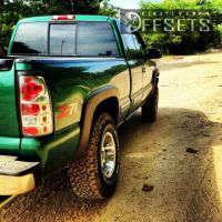 """1999 Chevrolet Silverado 1500 - 16x9 -12mm - Moto Metal MO951 - Body Lift 3"""" - 285/75R16"""