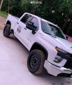 2020 Chevrolet Silverado 3500 HD - 22x10 -19mm - Center Line Quake - Stock Suspension - 285/55R22