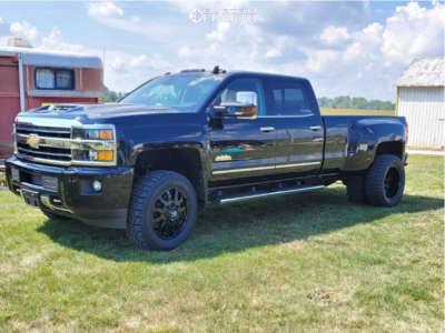 2019 Chevrolet Silverado 3500 HD - 20x8.5 0mm - Fuel Blitz - Leveling Kit - 275/65R20