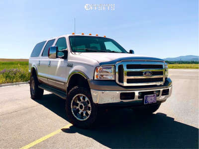 """2003 Ford Excursion - 18x10 -18mm - Helo He791 - Suspension Lift 4"""" - 33"""" x 12.5"""""""