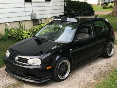 2002 Volkswagen Golf - 18x8.5 30mm - ESR Cs3 - Lowering Springs - 215/40R18